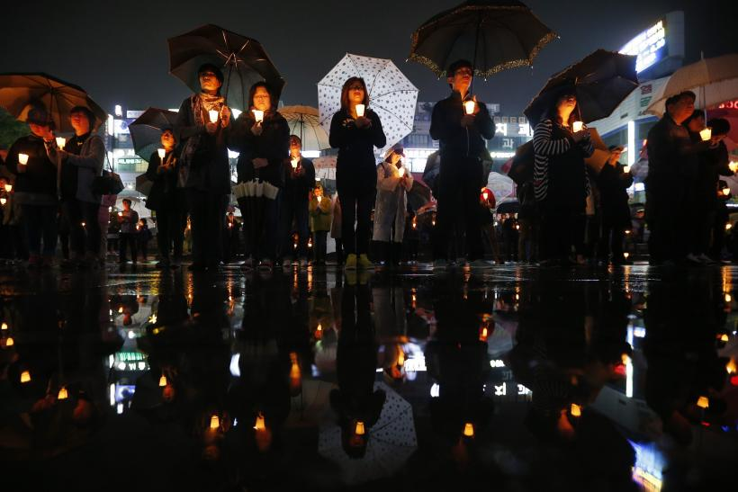 South korea Candlelight Vigil