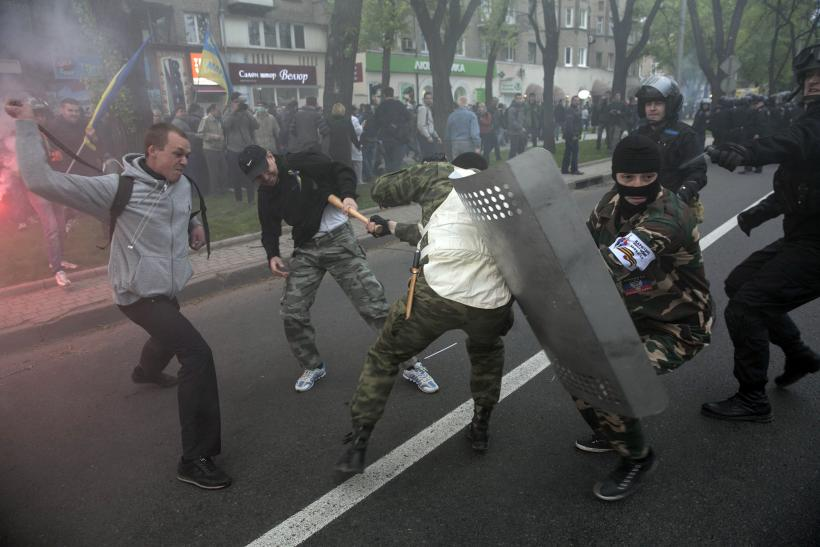 Clashes in Donetsk