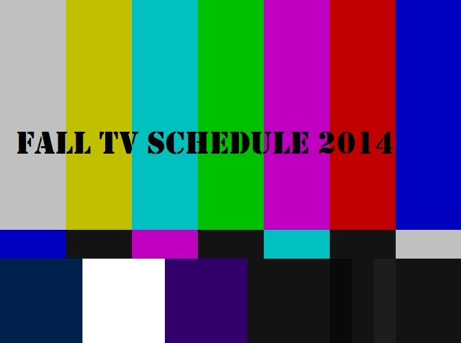fall tv schedule 2014
