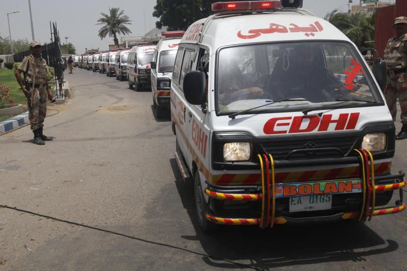 Karachi Airport Attack_Ambulances