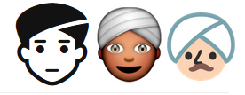 man with turban emoji