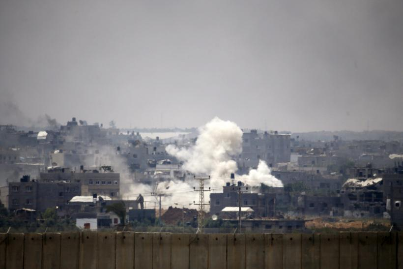 Smoke over gaza