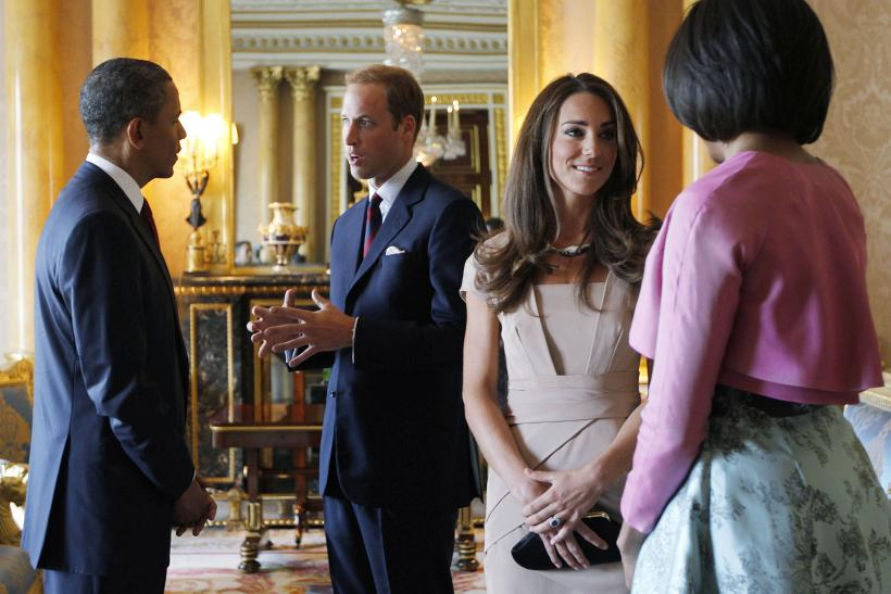 President Obama meets Britain's royal family