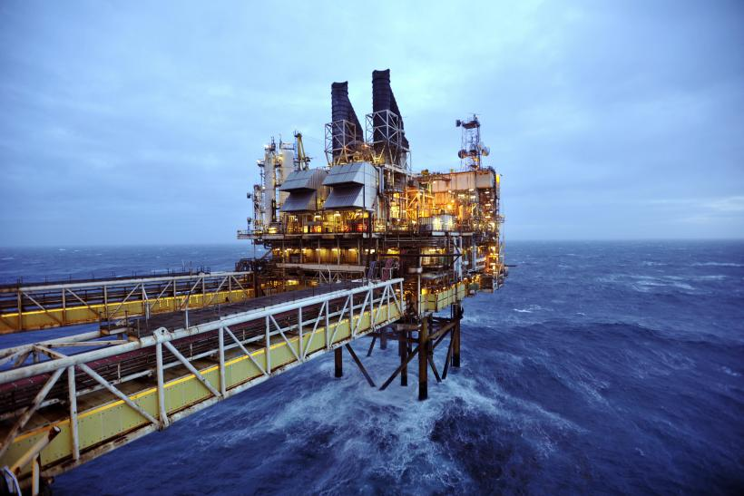 North Sea Offshore Oil Well