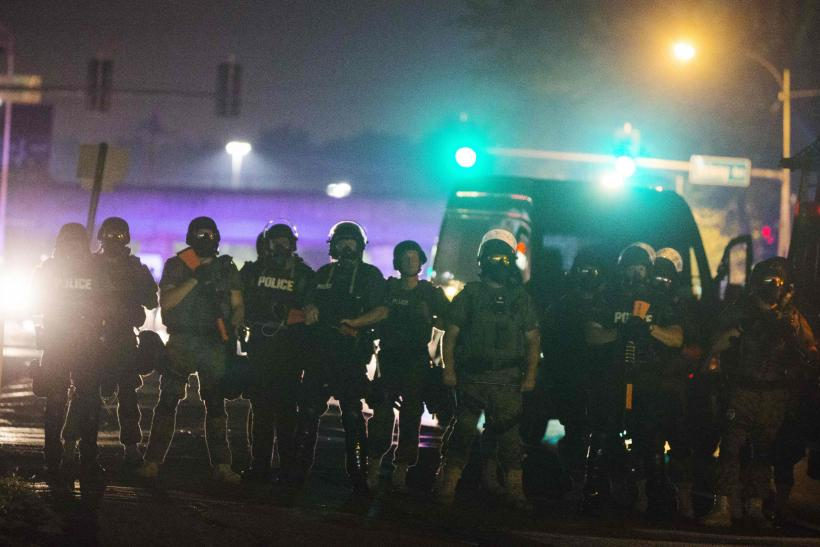 Police Officers In Ferguson, Mo., Aug. 16, 2014