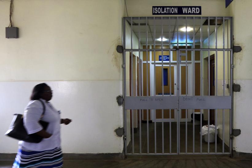 Ebola patients treatment ward