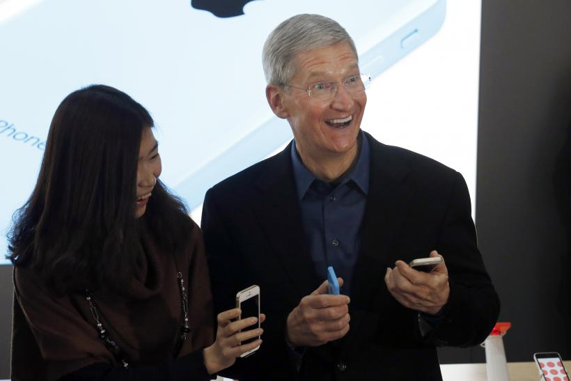Tim Cook looking at things