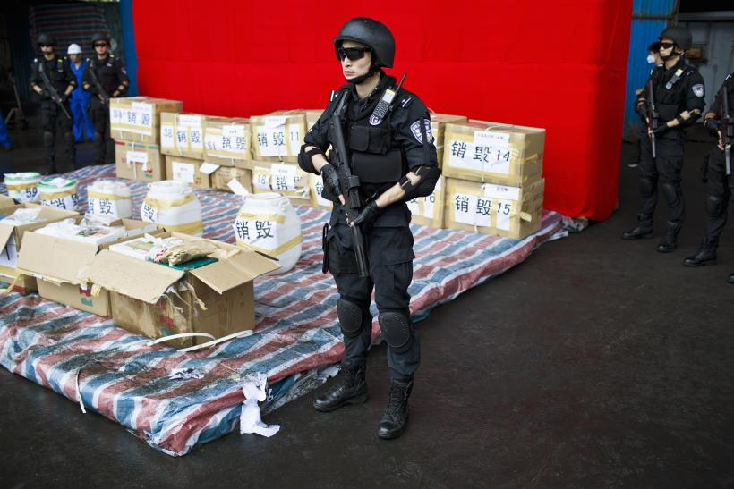 ... Drug Abuse and Illicit Trafficking, in Shanghai June 26, 2014. REUTERS