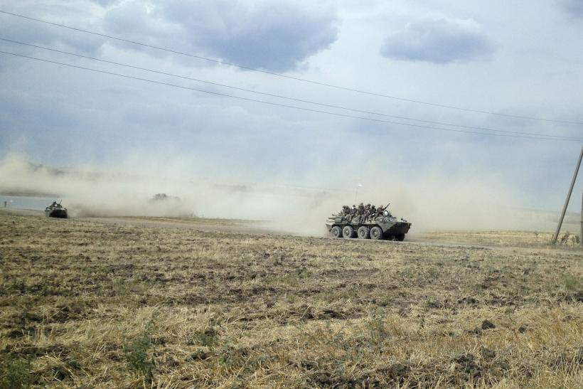 Russian Tanks Near Ukraine Border