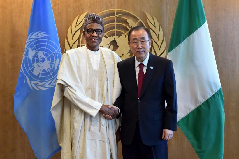 Muhammadu Buhari and Ban Ki-moon