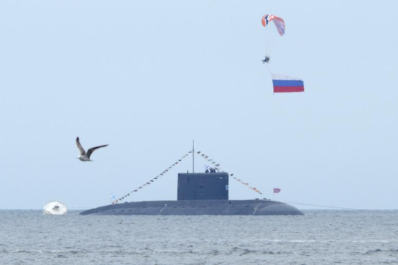 A Russian submarine surfaced in waters off Vladivostok