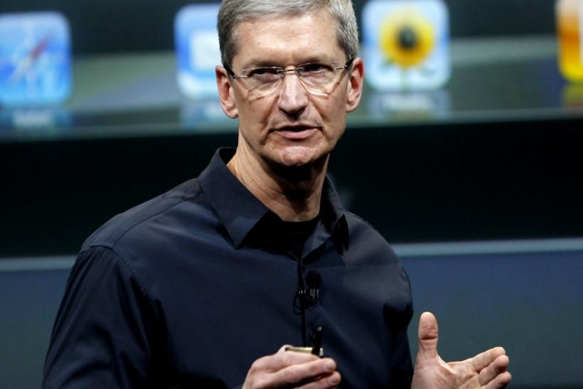 Apple CEO Tim Cook, whose 2012 compensation now exceeds $600 million.