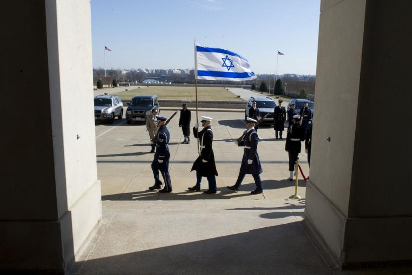 Israeli flag flying at the Pentagon