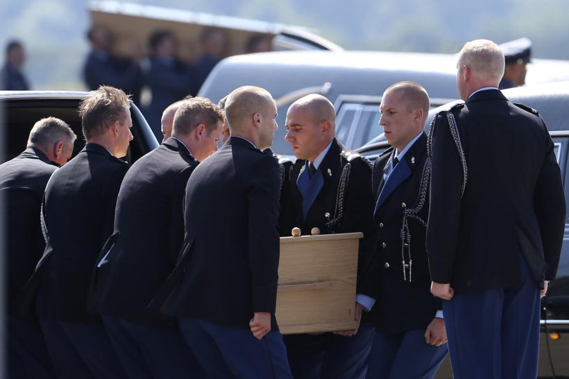 A Moment Of Silence As First Bodies Of MH17 Victims Arrive In The Netherlands