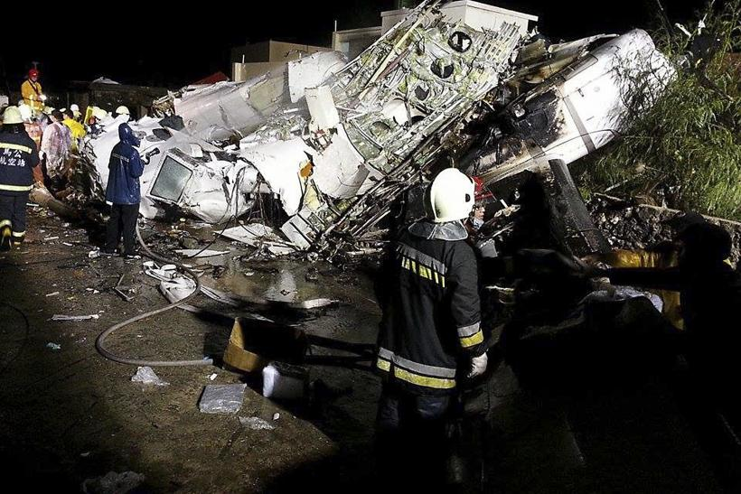 Rescuers Searching For Survivors Of TransAsia Crash
