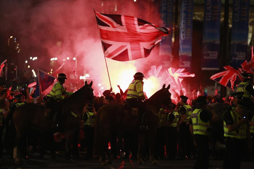 Clashes In Glasgow Following 'No' Vote