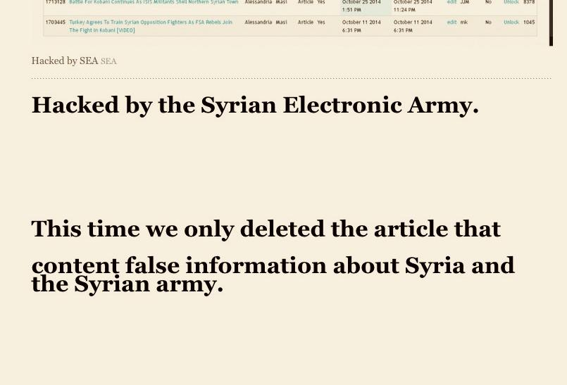 IBTimes Hacked By Syrian Electronic Army