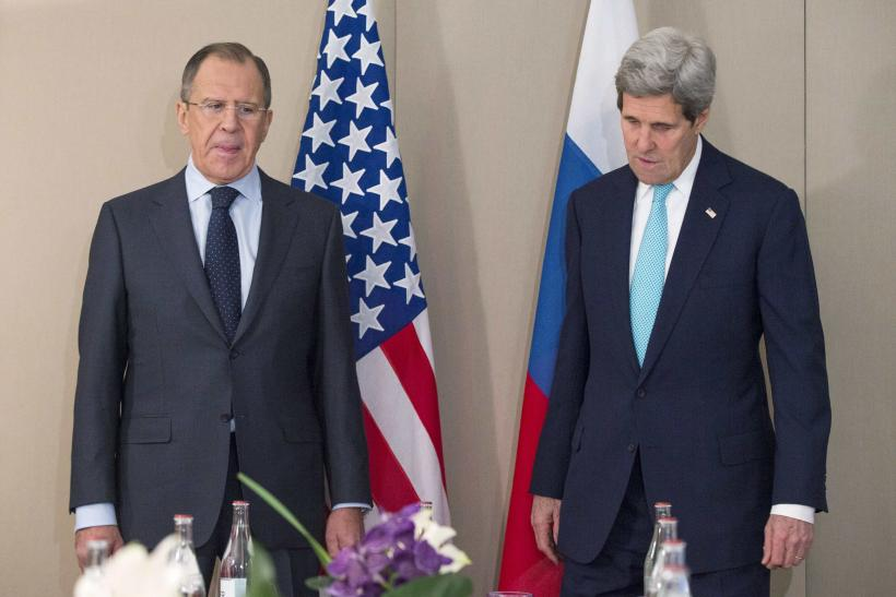John Kerry and Sergei Lavrov meeting