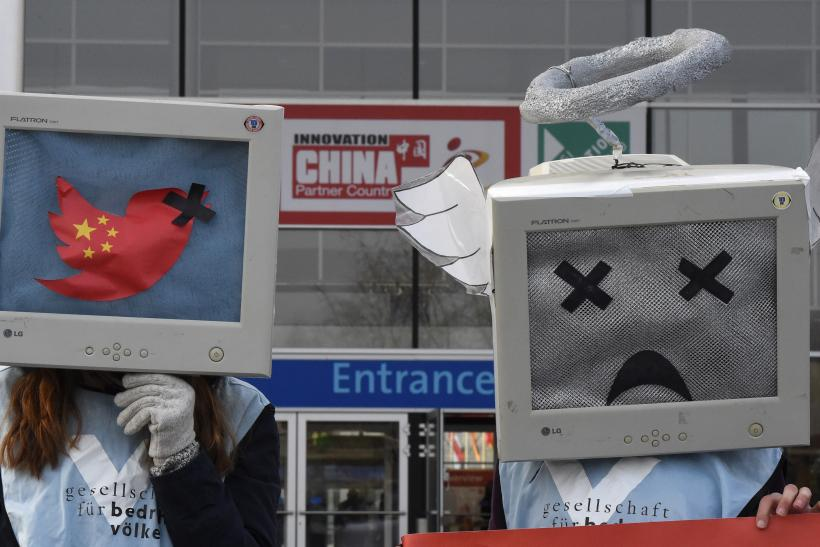 China internet freedom protesters