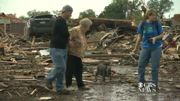 Dog Rescued From Rubble: Oklahoma Tornado Survivor Barbara Garcia Finds Missing Dog During Live Interview