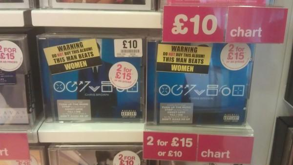 Chris Brown's Latest Album Gets Sticker Warning 'This Man Beats Women' In London
