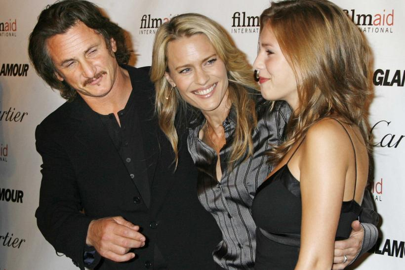 Sean Penn, Robin Wright, his former wife and their daughter, Dylan Penn