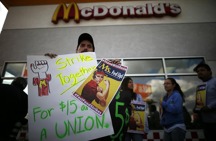 US Labor Agency Accuses McDonald's Of Violating Labor Rights Over Fast Food Workers Movement