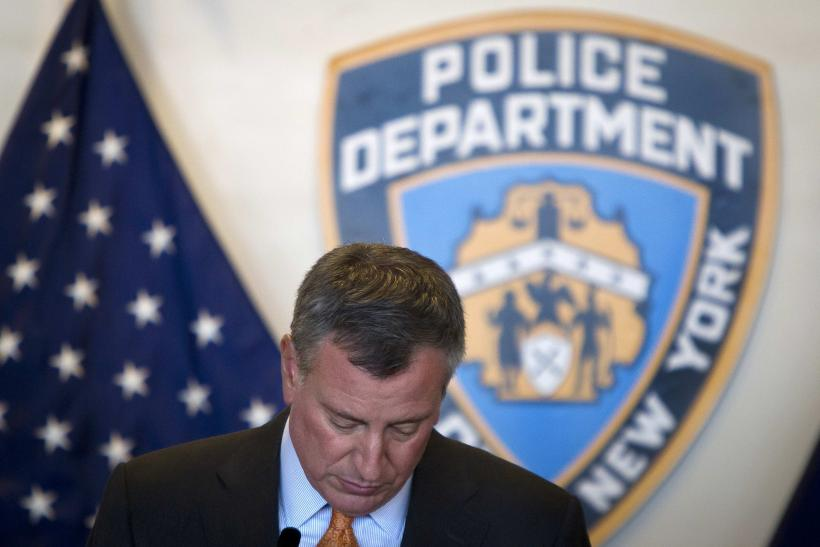 New York City Mayor Bill DeBlasio Calls For Suspension Of Protests After Killing Of Two NYPD Cops