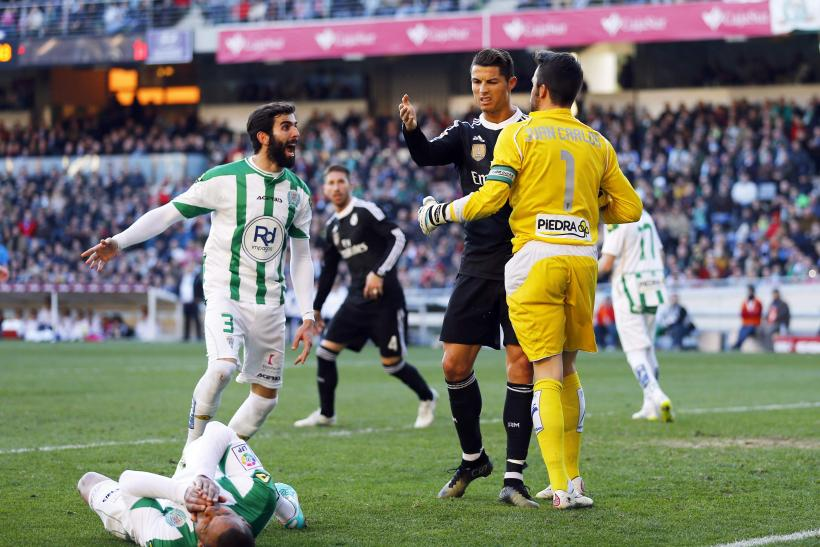 VIDEO Cristiano Ronaldo Slaps, Kicks Cordoba Players As Real Madrid Star Gets Red Card