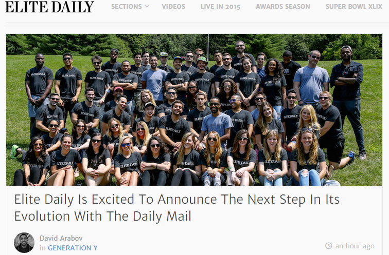 Daily Mail Acquires Elite Daily In Latest Push To Broaden Online Reach
