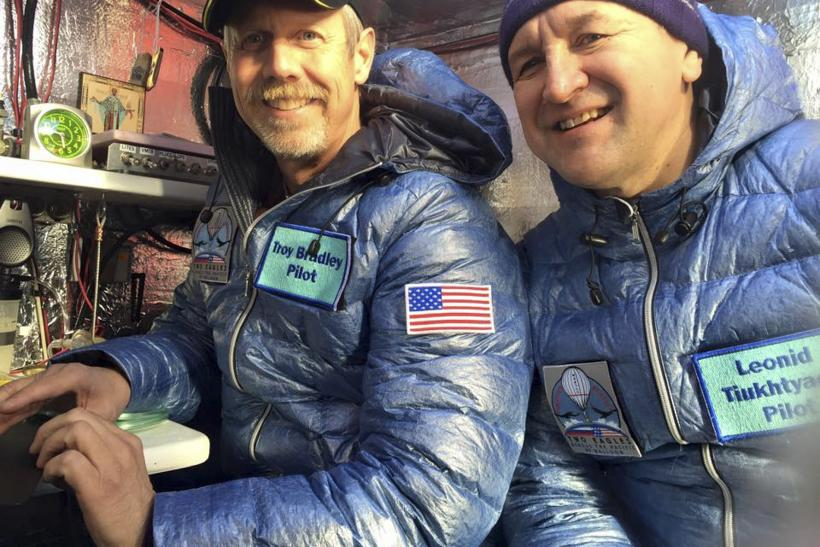 Russian-American Balloon Crew Surpasses Distance Record