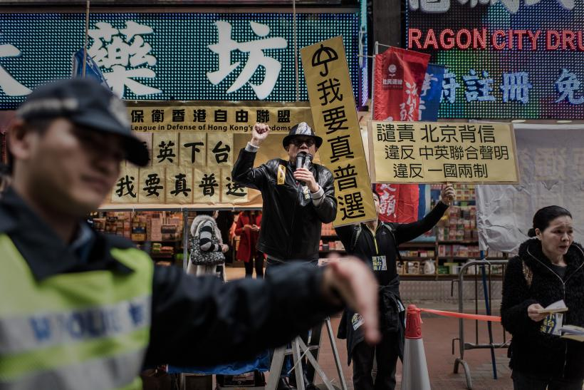 Hong Kong Police Take No Chances At Repeat Democracy Protest