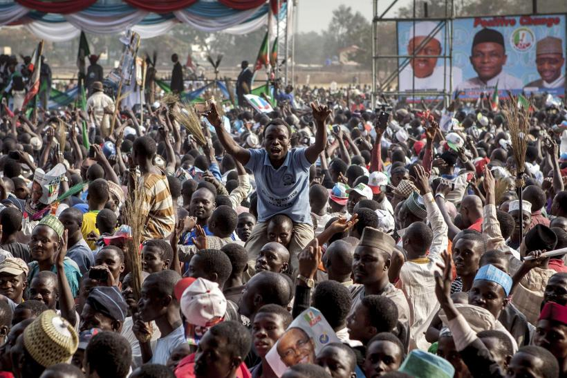 Nigeria election rally