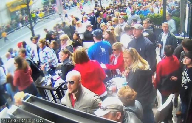 Boston marathon security photo