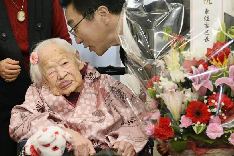 Japan's Misao Okawa at her 117th birthday