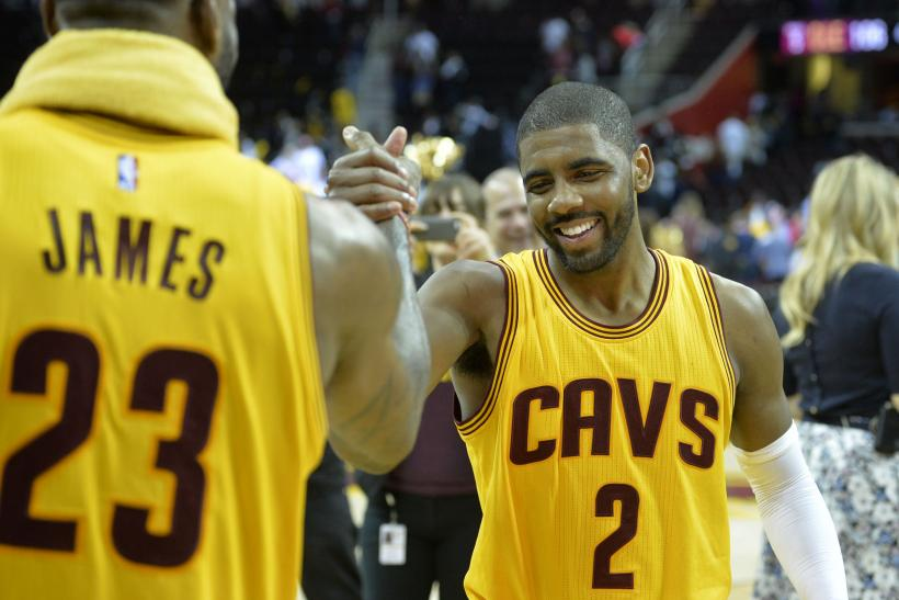 Kyrie Irving with LeBron James