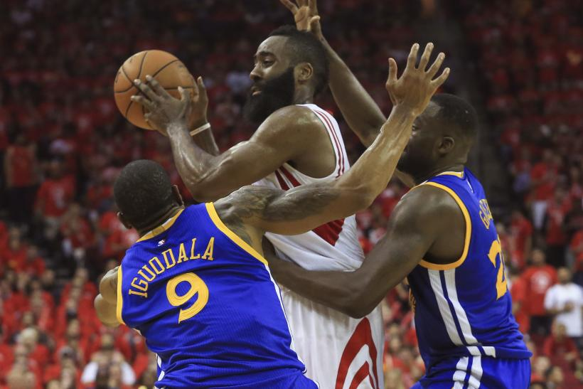 James Harden Rockets Warriors