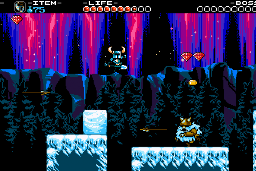 Shovel Knight Ice Level