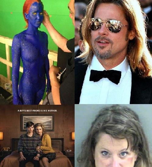 Brad Pitt's 'Drug Damage', Jennifer Lawrence Sexy 'X-Men' Photo, Barbara Walters Daughter Arrested: Today's Gossip Roundup
