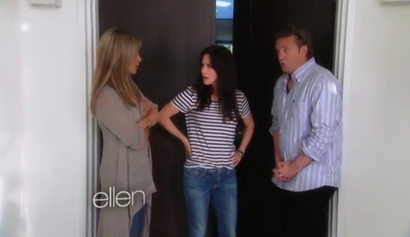 'Friends' Reunion on 'Ellen:' Jennifer Aniston, Matthew Perry, Courtney Cox Reminisce [VIDEO]